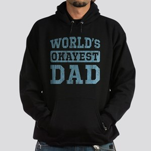 World's Okayest Dad [v. blue] Hoodie (dark)